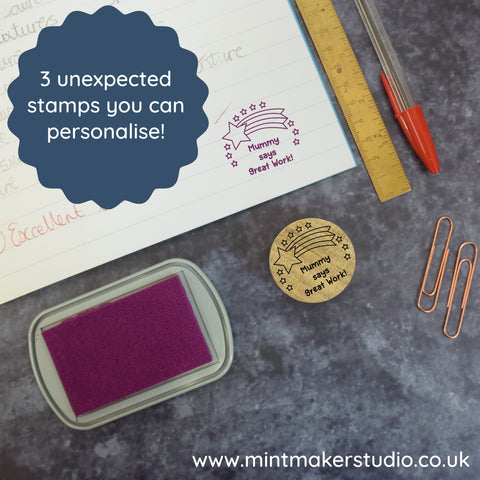 3 Unexpected Stamps you can Personalise!