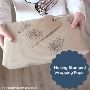 Hand Stamped Wrapping Paper Tutorial