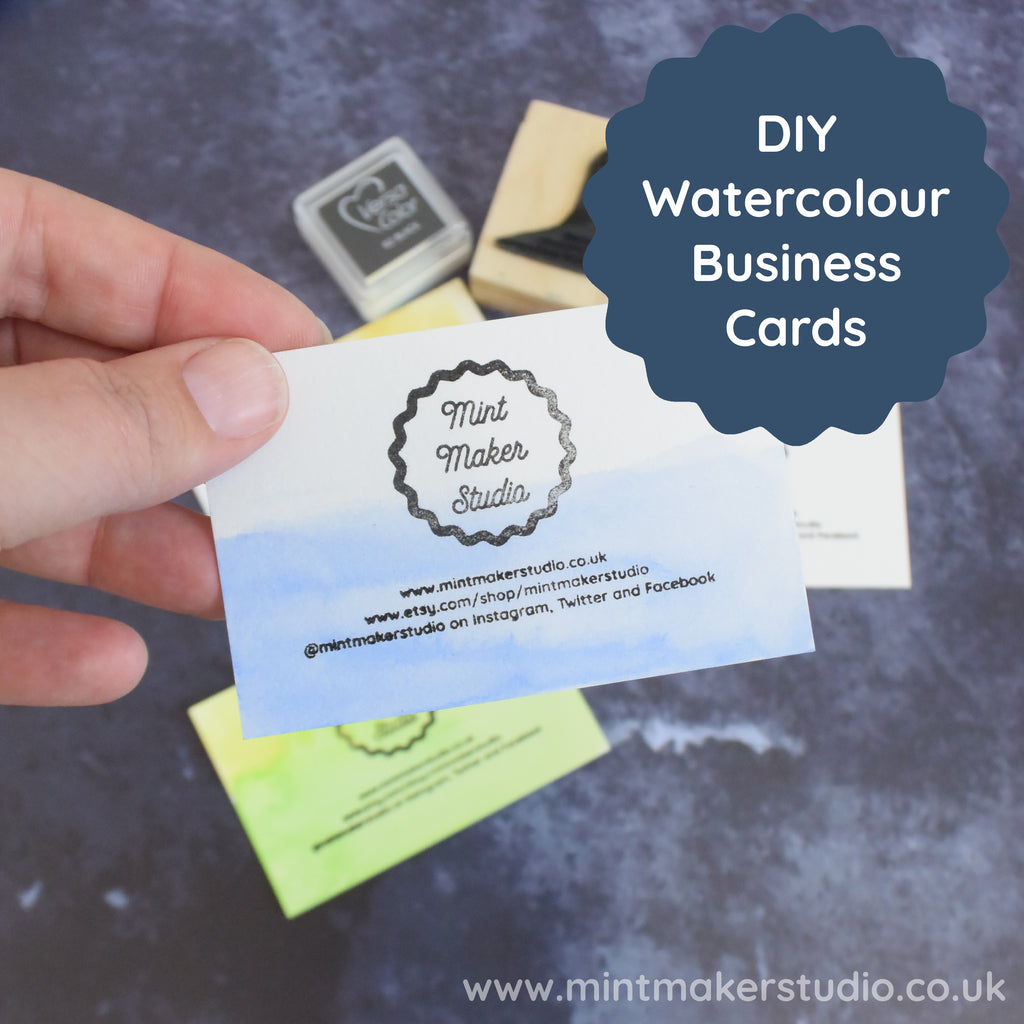 DIY Watercolour Business Cards