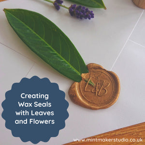 Creating Wax Seals With Leaves And Flowers