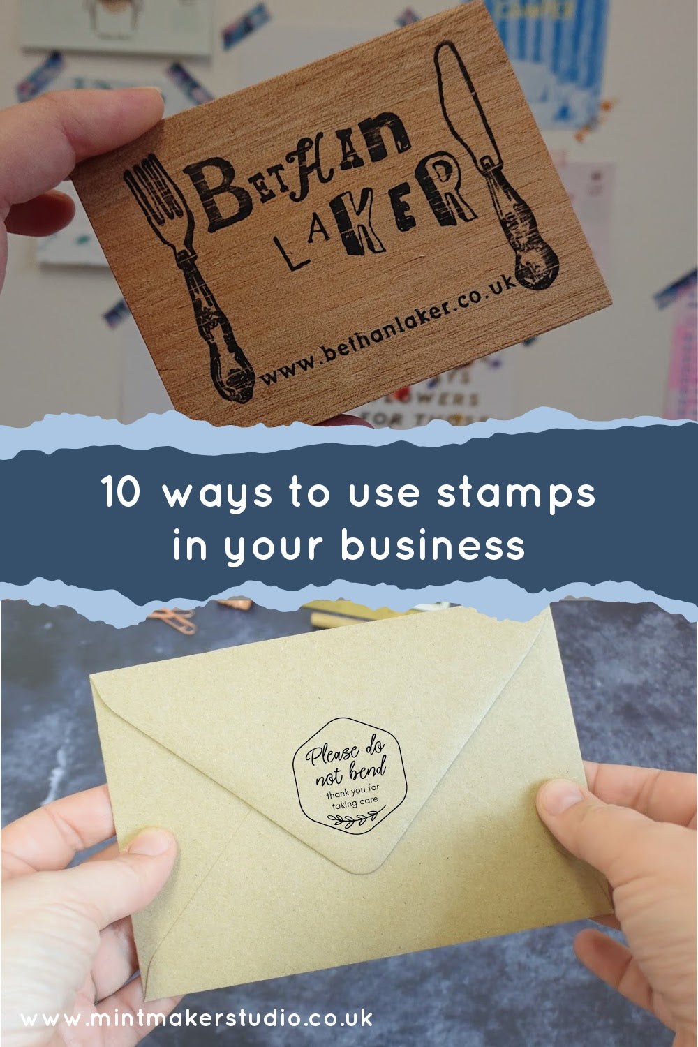 Decorative image of 10 ways to use a stamp in your business