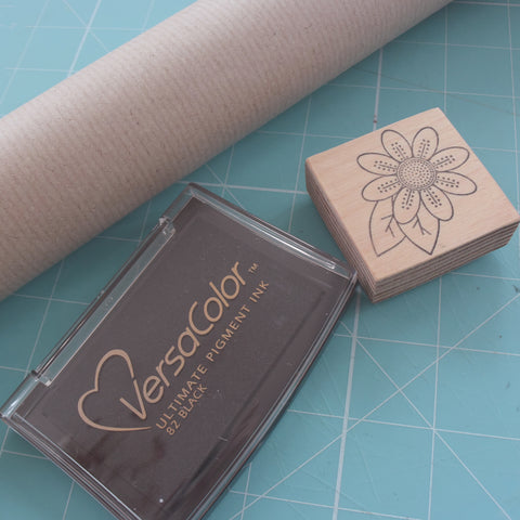 Stamped Wrapping Paper - Materials