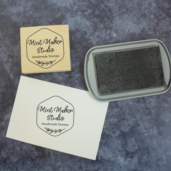 Personalised Honeycomb Business Logo Stamp