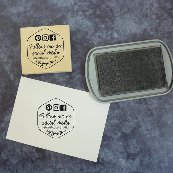 Personalised Honeycomb Business Social Media Stamp