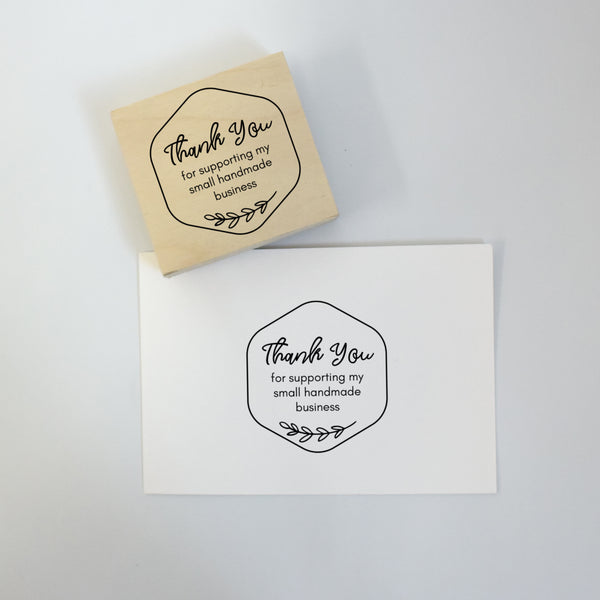 Honeycomb Thank You Rubber Stamp