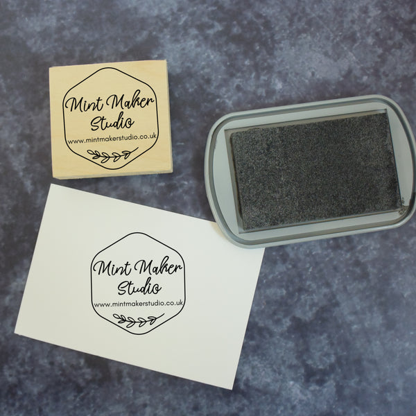 Personalised Honeycomb Business Web Address Stamp