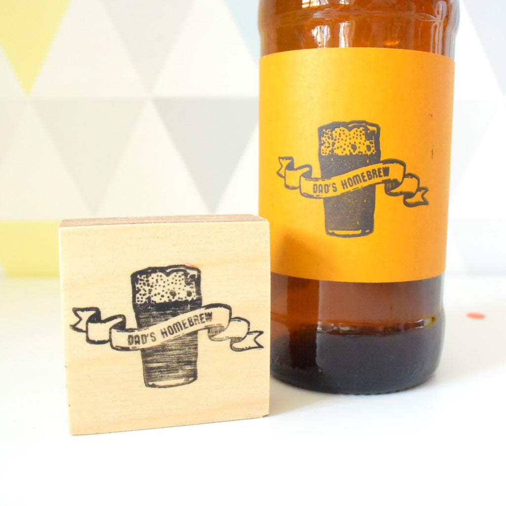 Personalised Craft Beer and Banner Stamp