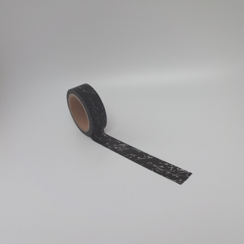 Black Script Washi Tape