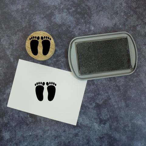 Cartoon Style Baby Footprint Stamp