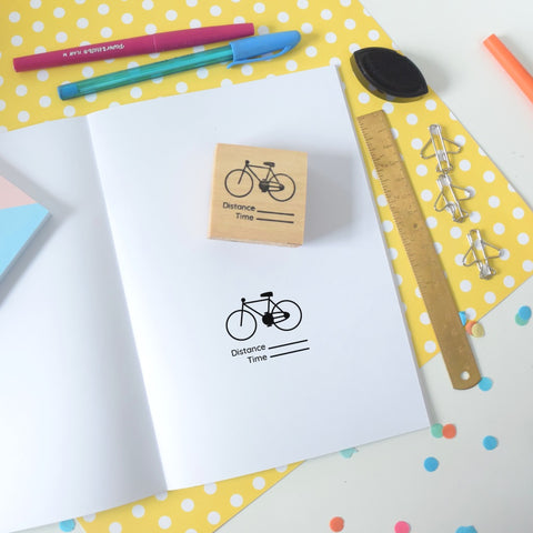 Cycling Tracker Planner Rubber Stamp