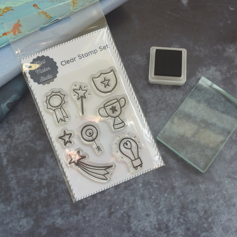 Selection of Clear Reward Cups and Medal Stamps from Mint Maker Studio