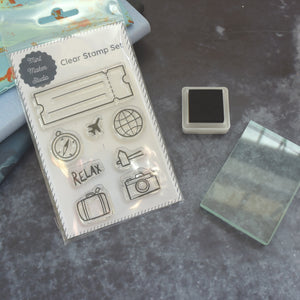 Clear Stamp Set - Travel