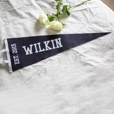 Personalised Family Name Pennant