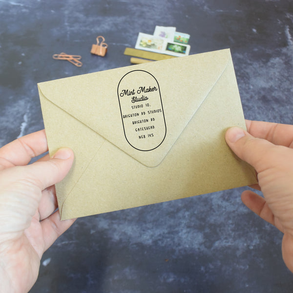 Personalised Botanical Business Address Stamp