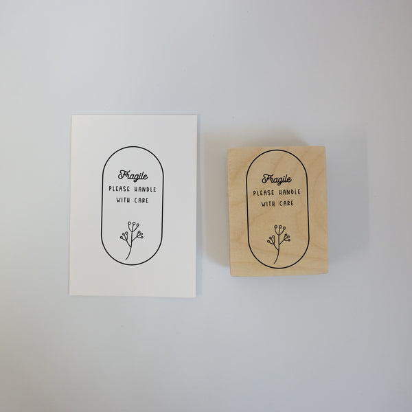 Botanical Fragile Rubber Stamp