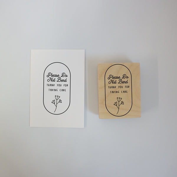 Botanical Please Do Not Bend Rubber Stamp