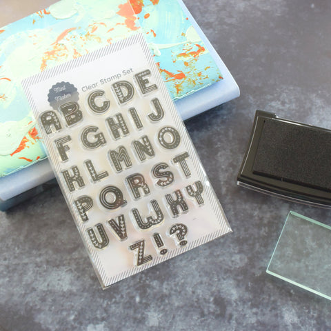Nordic Folk Alphabet Clear Stamp Set