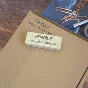 Fragile Thank You For Taking Care Packaging Stamp