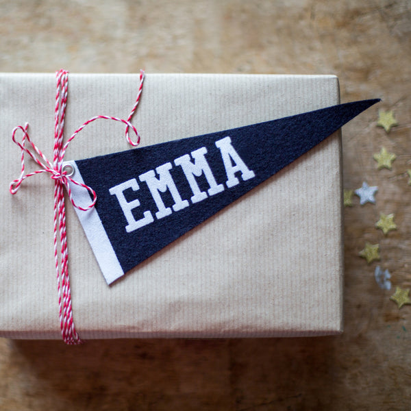 Personalised Pennant Gift Tag
