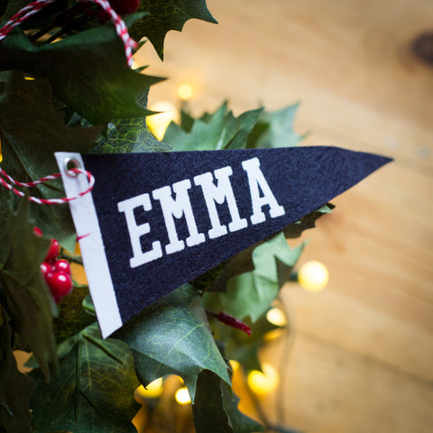 Personalised Pennant Tree Decoration