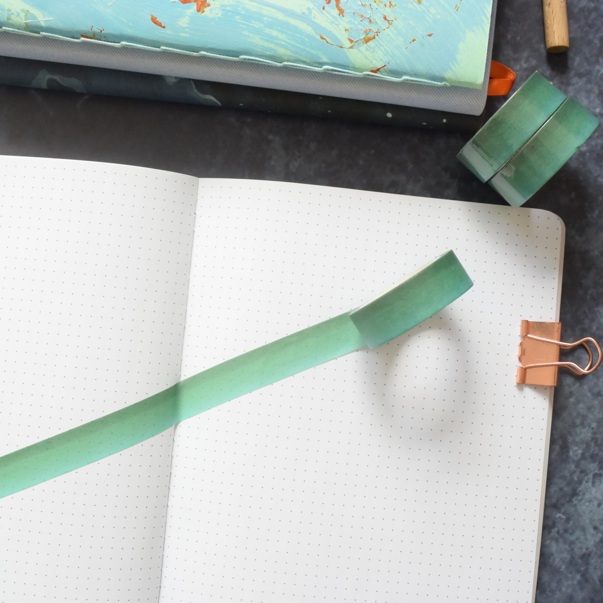 Green Ombre Washi Tape