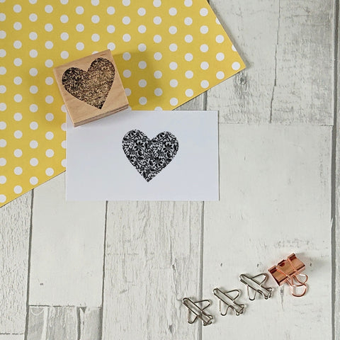 Lace Heart Rubber Stamp
