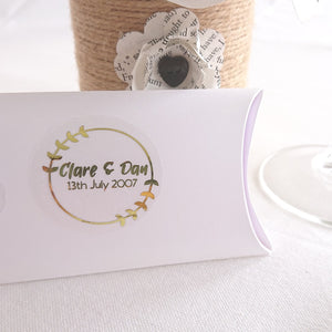 Personalised Foiled Leaf Corner Border Stickers