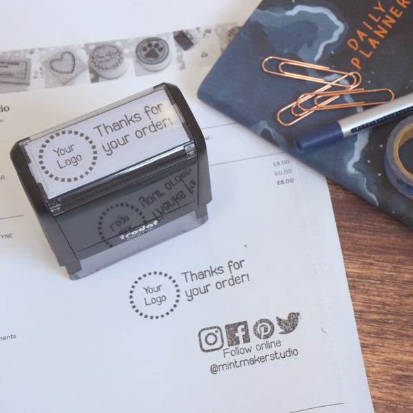 Business Stamp Bundle - Thanks for your Order and Hashtag Self Inking Stamp