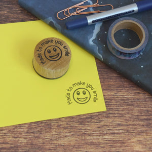 Made to make you smile stamp - Rubber stamp