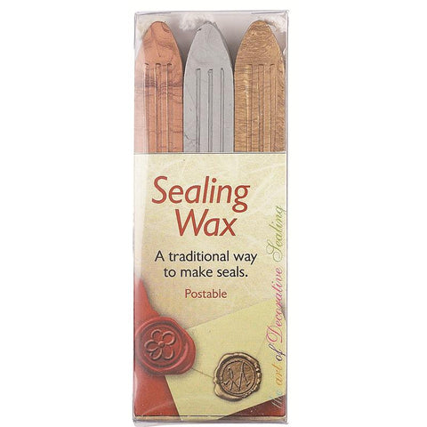 Gold, Silver and Bronze Traditional Sealing Wax with Wick