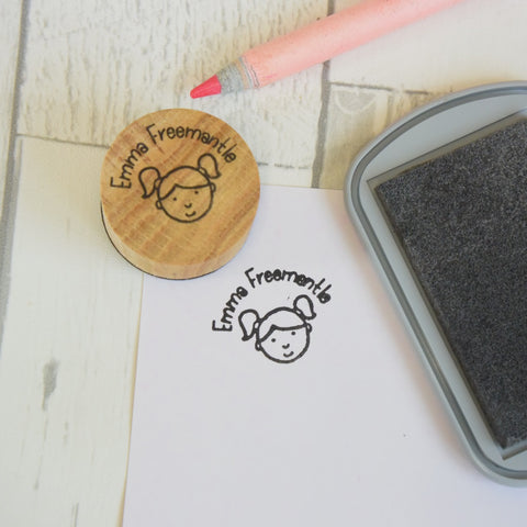 Personalised Kids Name and Portrait Stamp