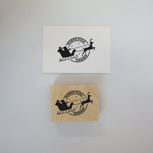 North Pole Airmail Christmas rubber stamp