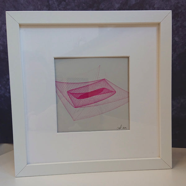 Pendulum Art - Original Piece - Pink on Grey