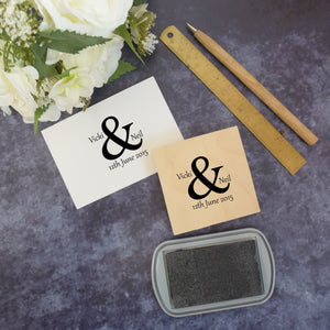 Personalised Ampersand Wedding Stamp