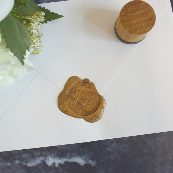 Personalised Hand Lettered Monogram Wax Seal Stamp