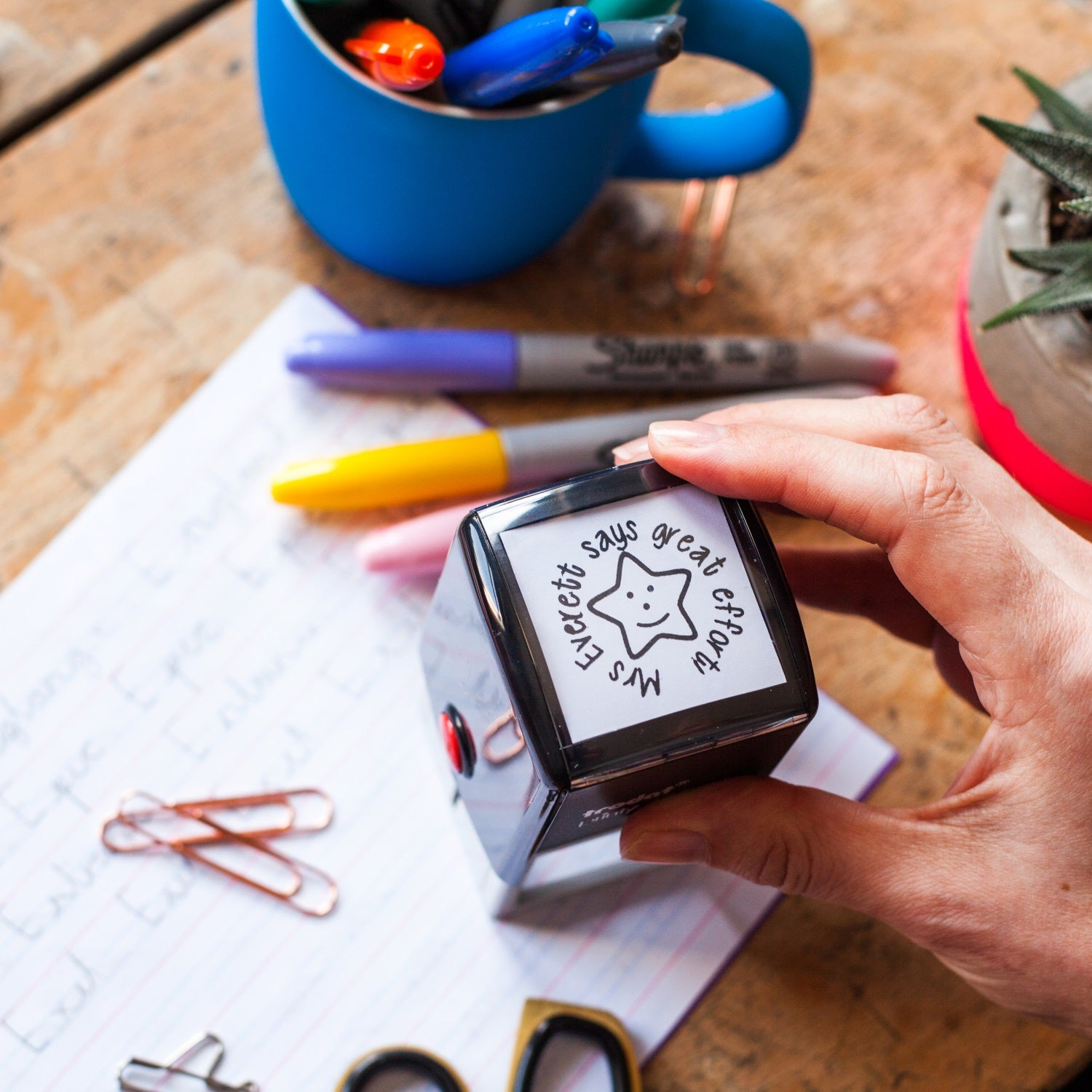 Personalised Self Inking Teacher Reward Stamp