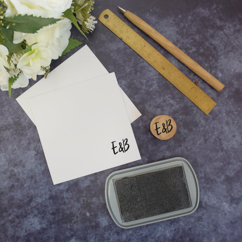 Personalised Botanical Leaves Monogram Wedding Stamp