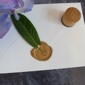 Personalised Botanical Leaves Monogram Wax Seal Stamp