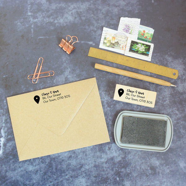 Personalised Location Marker Return Address Stamp