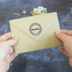 Personalised Postmark Style Return Address Stamp