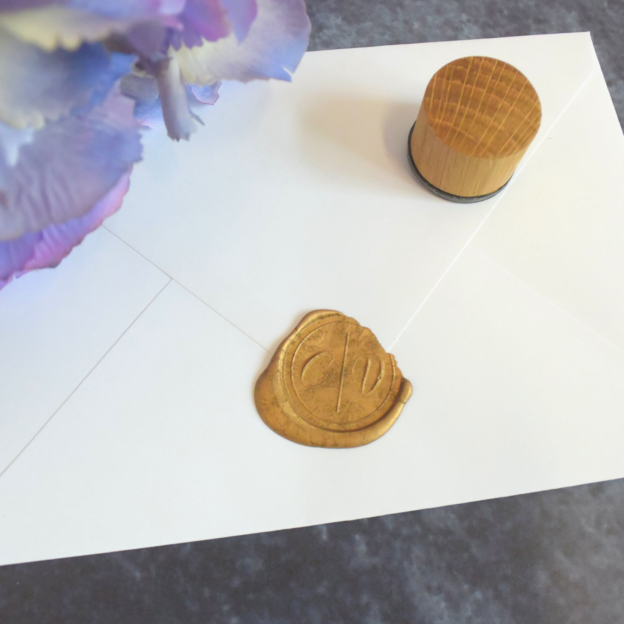 Personalised Simple Calligraphy Monogram Wax Seal Stamp