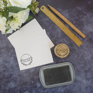 Personalised Laurel Wreath Couple Wedding Stamp