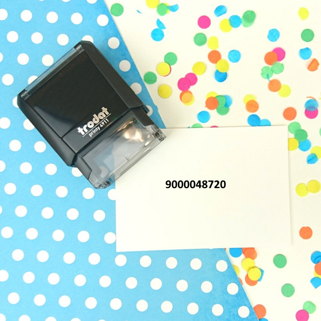 Small Number Self Inking Business Stamp