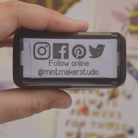 Personalised Social Media Self Inking Stamp