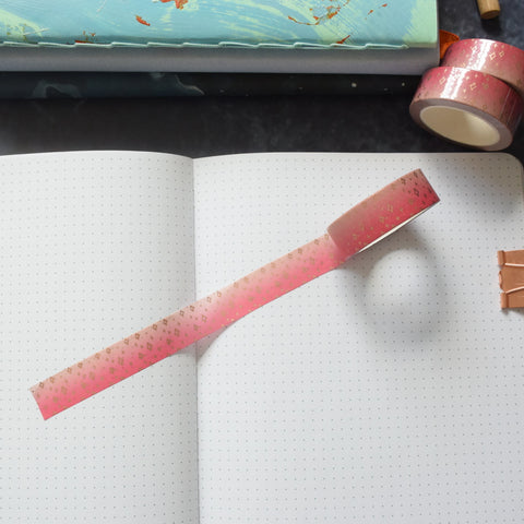 Pink Ombre Sparkle Washi Tape