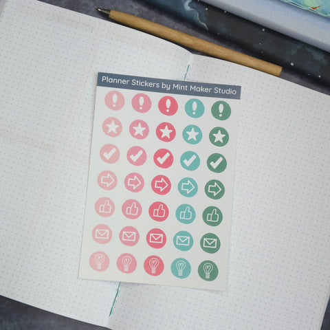 Bullet Journal Icon stickers for your planner
