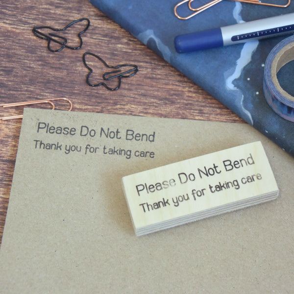 Do Not Bend Thank You For Taking Care Packaging Stamp