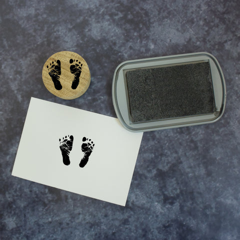 Realistic Baby Footprint Rubber Stamp