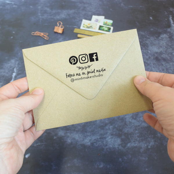 Personalised Relaxed Business Social Media Stamp