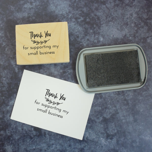Relaxed Thank You Rubber Stamp